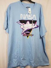 Space Shuttle Discovery Nasa Men Graphic T-shirt Xxl light blue neon colors (31
