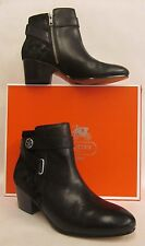Coach Page Black Embossed Suede Ankle Boots - Size 11