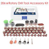 206PCS Grinding Sanding Polishing Rotary Tool Wheel Accessory Kit Set For Dremel
