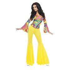 Smiffys - Costume da Hippie anni '70 Donna Taglia S