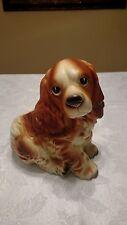 """Vintage Cocker Spaniel Dog Ceramic Planter Napcoware # C7087 JAPAN, 5"""" Wide"""
