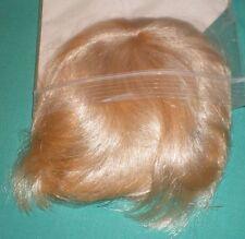 """Blond Glorex doll wig, 7.5"""" to 8"""", artificial hair, Switzerland"""