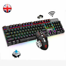 Wireless Rainbow Backlit Gaming Keyboard and Mouse Combo G528 for PC Laptop PS4