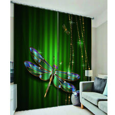 3D Print Window Drapes Blackout Dragonfly Curtains for Children Room