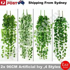 2X 96cm Artificial Ivy Vine Fake Foliage Flower Hanging Leaf Garland Plant Party