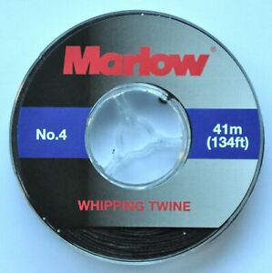 Marlow No 4 Waxed Whipping Twine - Black- 41m -134Ft  FREE DELIVERY