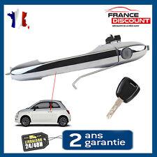 Poignee de porte exterieure avant gauche chrome FIAT 500 + barillet et clés