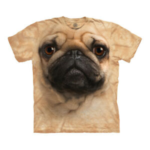 The Mountain Pug Face Adult Unisex T-Shirt