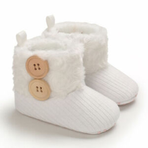 Fashion Gift Winter Snow Boots Baby Girl Soft Booties Infant Warm Faux Fur Boots