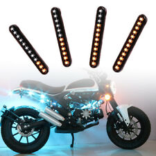 Motorcycle LED Turn Signal Lamp Sequential Flowing Indicator Light Amber Parts Q