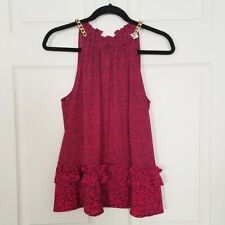 Michael Kors chain link  halter top  red and black  size L