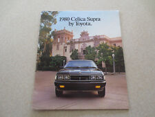 Original 1980 Toyota Celica Supra cars advertising booklet