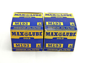 LOT OF 2 NEW MAX LUBE GOLD M193 ENGINE OIL FILTERS MO-193 FL-408 PH3816 51381
