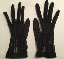 Gloves Womens Vintage Hansen Black Lace Size 6 1/2 Small Dress Formal Party