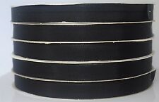 "500 Yards Black Fabric Grosgrain Ribbon  3/4"" Bulk Craft Wedding Strong w/defect"