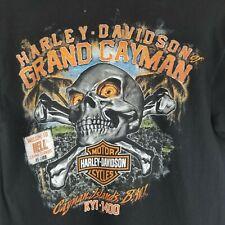 Harley-Davidson Grand Cayman Scull Short Sleeve T Shirt Men's Size M  Black