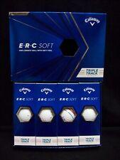 New listing Callaway ERC Soft Triple Track White Dozen Golf Balls.