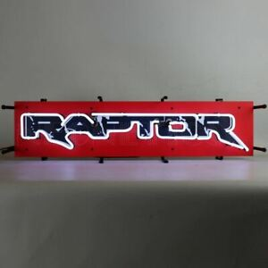 Neon Sign - Ford SVT Raptor F-150 w/ Backing Board * Cool New Sign! Free US Ship