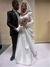 """Wedding Day Bride and Groom Figurines 8"""" Tall"""