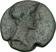 AUGUSTUS 27BC Thessaly Koinon ATHENA Authentic Ancient Roman Coin RARE i47209