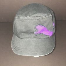 009ae842762 Puma Black Purple Unisex One Size Hat Military Cap Buckle Clasp Casual Flaws