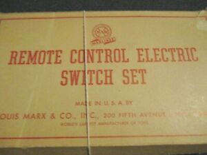 PAIR MARX 1590 O27 3 RAIL REMOTE CONTROL SWITCHES + CONTROLLER in box