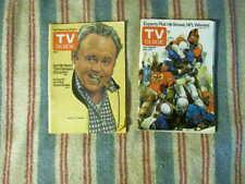 Lot of 2 TV Guide  1975  football O'Connor Bunker