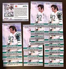 "50) JOE NAMATH New York Jets 1990 Pro Set ""MVP SUPER BOWL III"" Card #3 LOT"