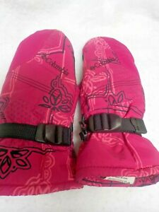 Columbia Youth Medium Girls Pink Winter Snow Mittens