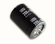 5x 1500uF 200V Radial Snap In Mount Electrolytic Aluminum Capacitor 85C 200VDC