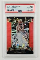 Luka Doncic 2018 Select Silver Red Prizm /199 PSA 10 Gem Mint Rookie #25 RC 🐐