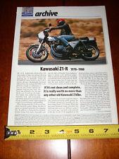 1978 - 1980 KAWASAKI Z1-R KZ1000 - ORIGINAL 2000 ARTICLE Z1R