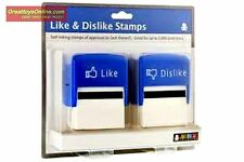 Like & Dislike Stamps Facebook Self Inking Office Stamps Jailbreak Toys Fun Gift