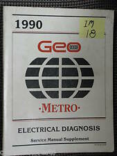 1990 Geo Metro Electrical Diagnosis Svc.Manual Suppleme