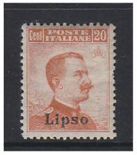 Dodecanese - 1912/21, 20c stamp - No wmk - Optd Lipso - M/M - SG 9F