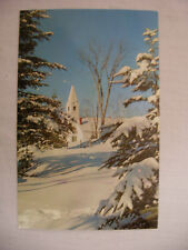 Vintage Photo Postcard Creston Iowa In Winter Unused