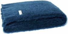 Masterweave Windermere Mohair Throw Rug Blanket in Indigo