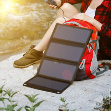 Hot! SUAOKI 28W Portable Solar Charger Panel 3 USB Ports QC 3.0 Quick Charging