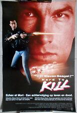 Affiche ECHEC ET MORT Hard to Kill STEVEN SEAGAL Kelly LeBrock 40x60cm