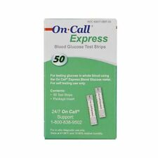 Acon On Call Express 4 boxes of 50 Test Strips Fast Free Shipping