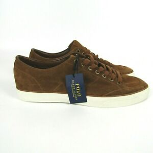 Polo Ralph Lauren Sherwin Brown Silky Suede Shoes Men's size 13