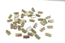 Premium Ribbon Crimp Ends 13x8mm 35 Pieces UK Seller GBE12