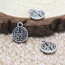 40pcs-Tiny Knot Charms, Antique Tibetan silver Tiny Knot Charms pendants 9mm