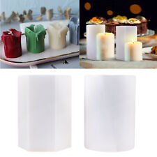 Silicone Pillar Candle Molds Moulds Cylinder Soap Candle Making Craft Diy