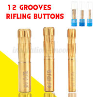 12 Precision Double Layer Blade Push Rifling Button Chamber Reamer Rifled *