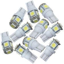 10x Car Side Wedge Park Tail Light Lamp Bulb 12V White T10 5050 W5W 5SMD LED