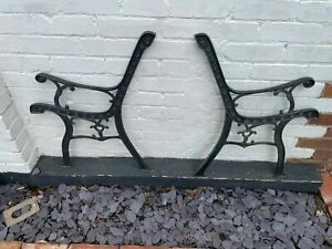 Cast iron pair of bench ends #1