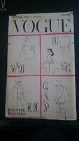 Vtg 50s 1950s VOGUE Sewing Pattern Transfer Embroidery MONOGRAM Letters Initials