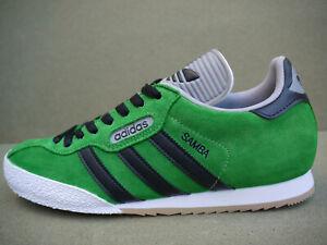 Adidas Samba Super Black Stripes CUSTOM Fairway Green Suede (UK 11) BNIBWTT