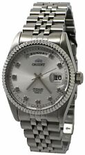 Orient Leader 'President' FEV0J003WY Silver Dial Stainless Steel Men's Watch